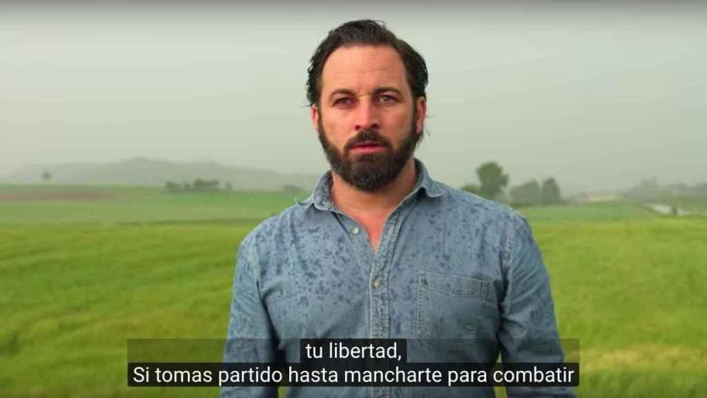 Santiago Abascal, líder de Vox, en el vídeo que resucita tras su exitoso mitin.