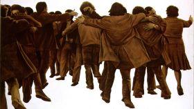 El cuadro de Juan Genovés, 'El abrazo'.
