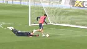 Gol de Bale en el entrenamiento del Real Madrid