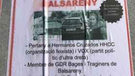Cristina Arias es una de las amenazadas en carteles de Balsareny
