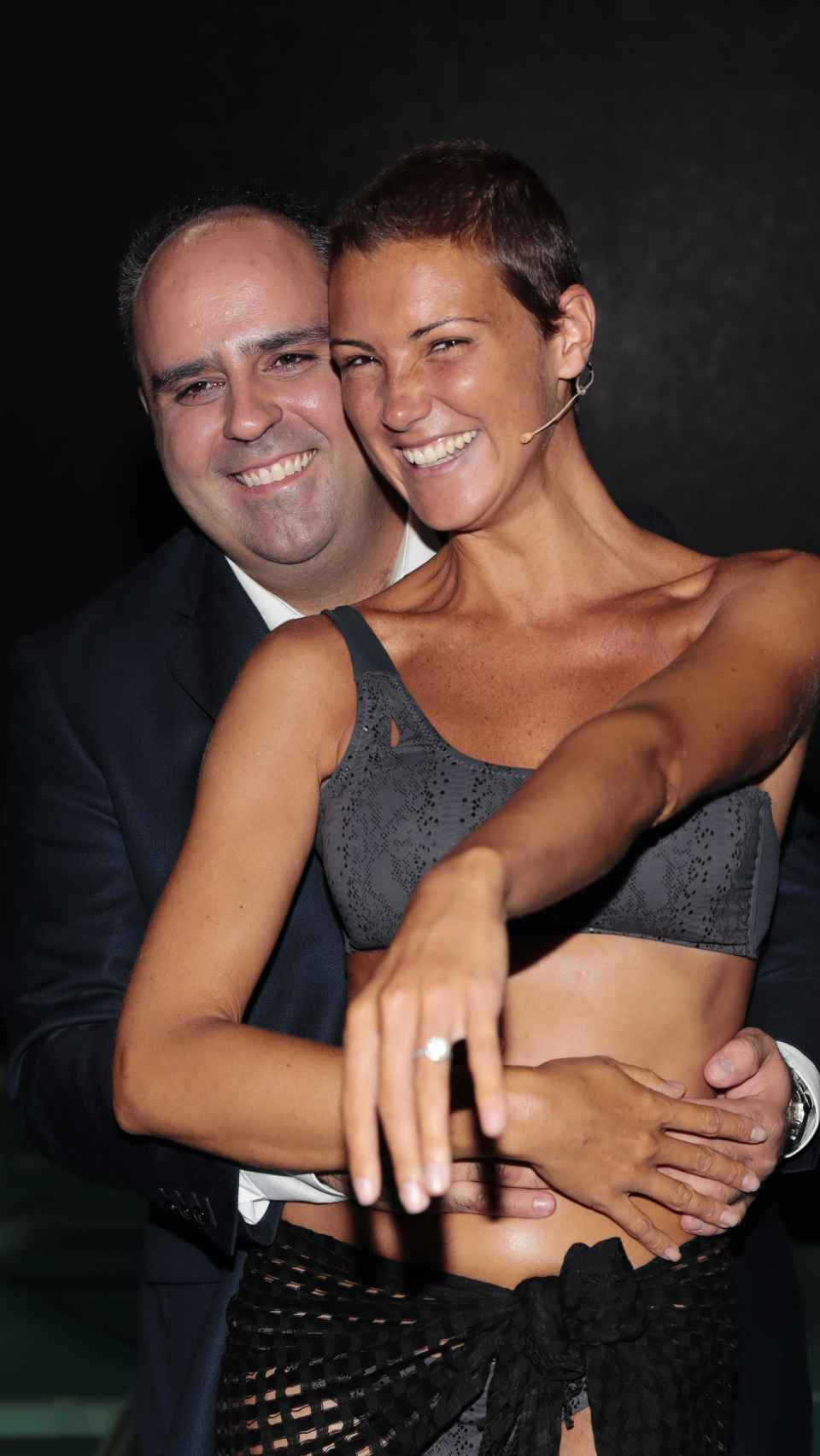La modelo y Julio Ruz.