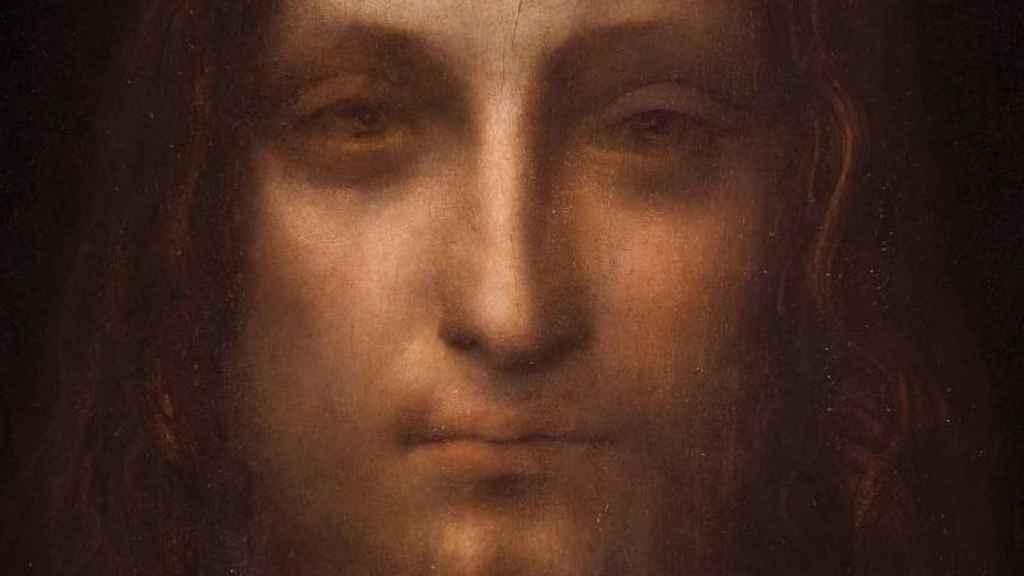 La cara del 'Salvator Mundi' pintado por Leonardo da Vinci.