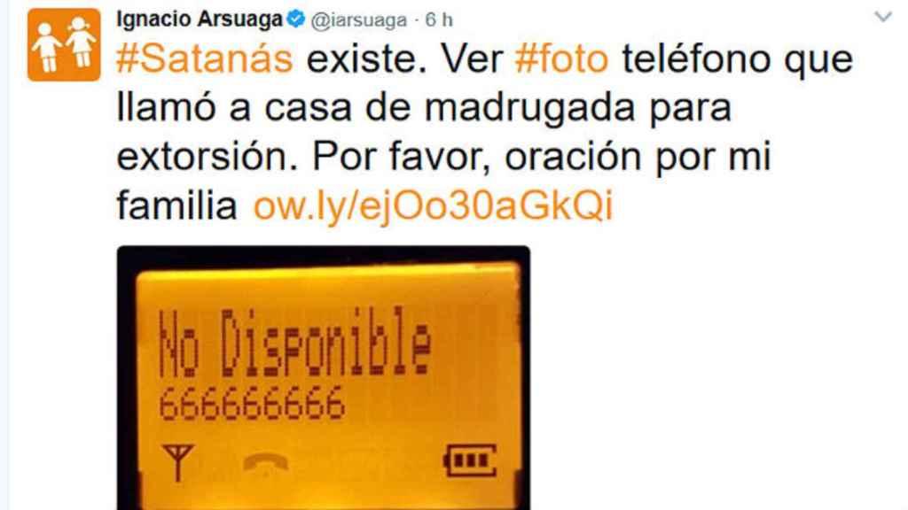 Ignacio Arsuaga, presidente de 'Hazte Oír', es el caso más famoso de fobia al 666.