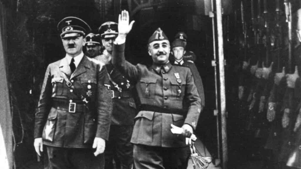 Hitler y Franco durante su encuentro en Hendaya en 1940.