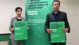 Juan Francisco Ruiz y Gema Torrejón, secretario general SATSE CLM y secretaria provincial SATSE Toledo, respectivamente