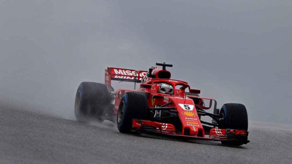Vettel en el entrenamiento del Gran Premio de  Estados Unidos