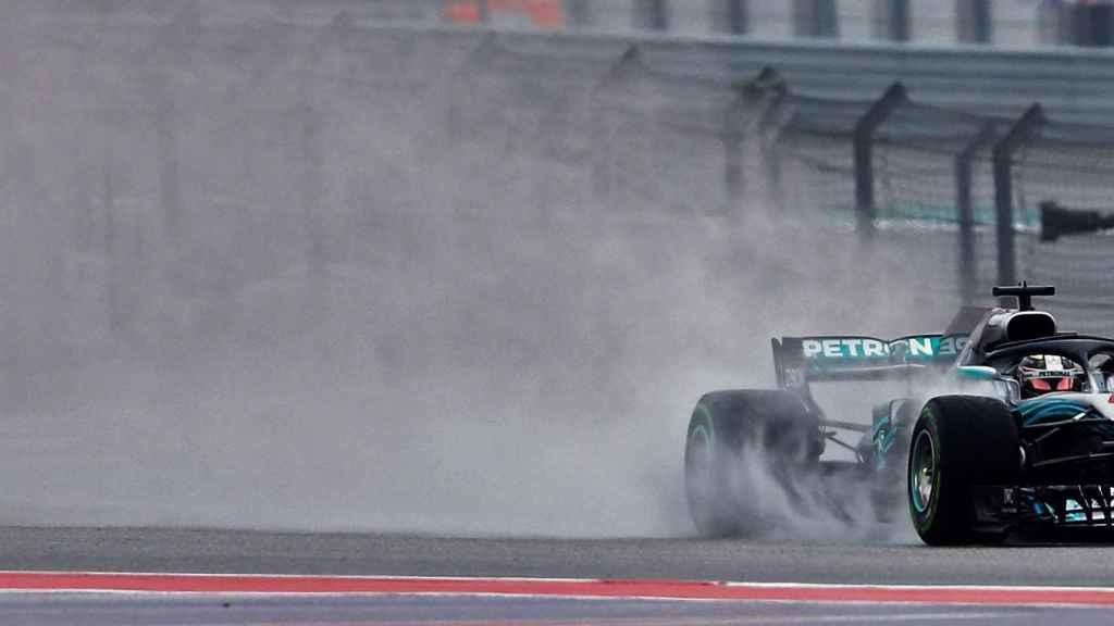 Hamilton en los entrenamientos para el Gran Premio de Estados Unidos