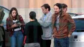 Pablo Iglesias a su llegada a la prisión de Lledoners para entrevistarse con Oriol Junqueras el pasado sábado.