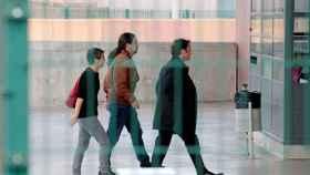 Pablo Iglesias a su llegada a la prisión de Lledoners.