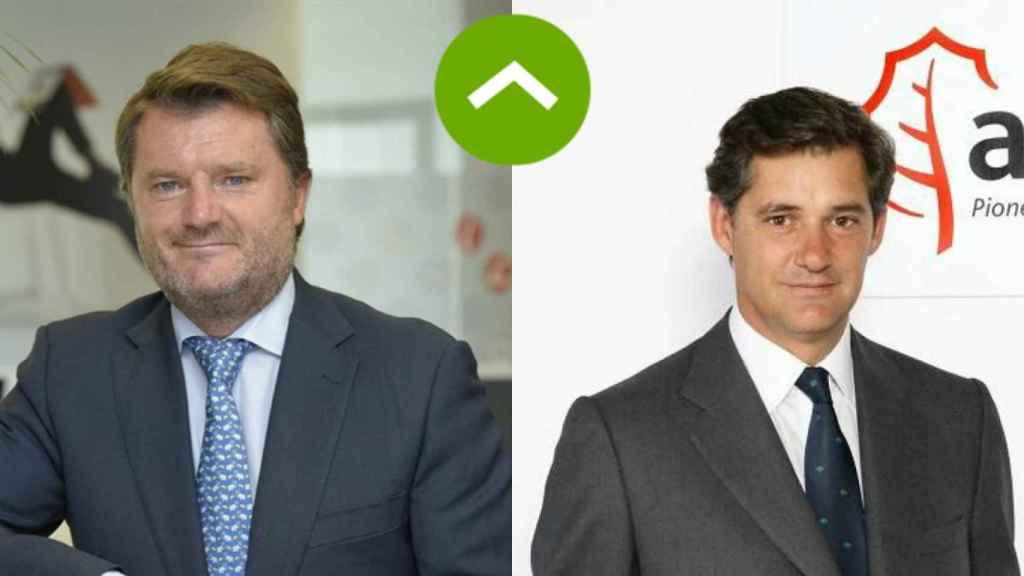 COMO LEONES: Alberto Ruano (Lenovo) y José Manuel Entrecanales (Acciona)