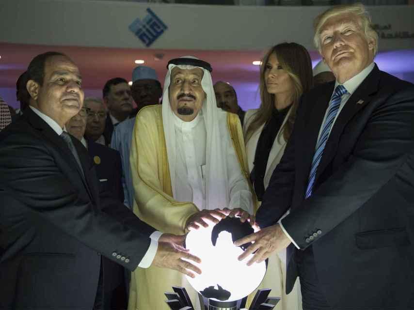 Trump, durante su visita a Arabia Saudí.