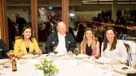 Juan Carlos I en la cena solidaria en Galicia.