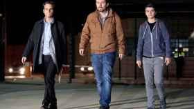 Iglesias a su salida, el sábado, de la prisión de Lledoners tras entrevistarse con Junqueras.