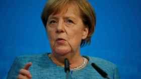 La canciller Angela Merkel durante un acto de su partido.