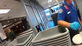 control de seguridad de un aeropuerto