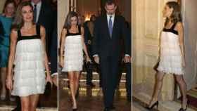 La reina Letizia con el vestido de Teresa Helbig.