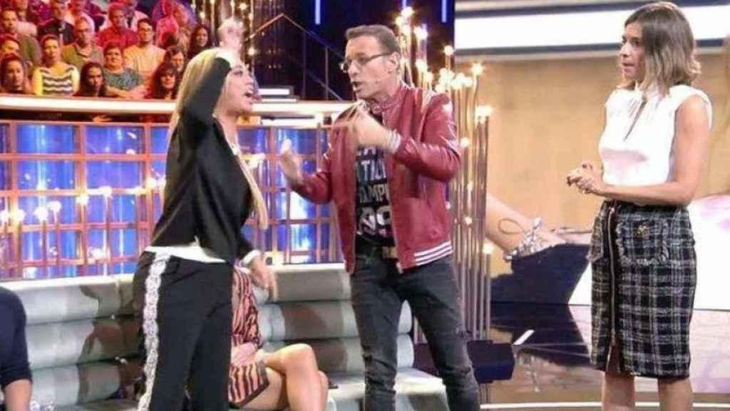 Carlos Lozano y Belén Esteban durante 'Gran Hermano VIP'.