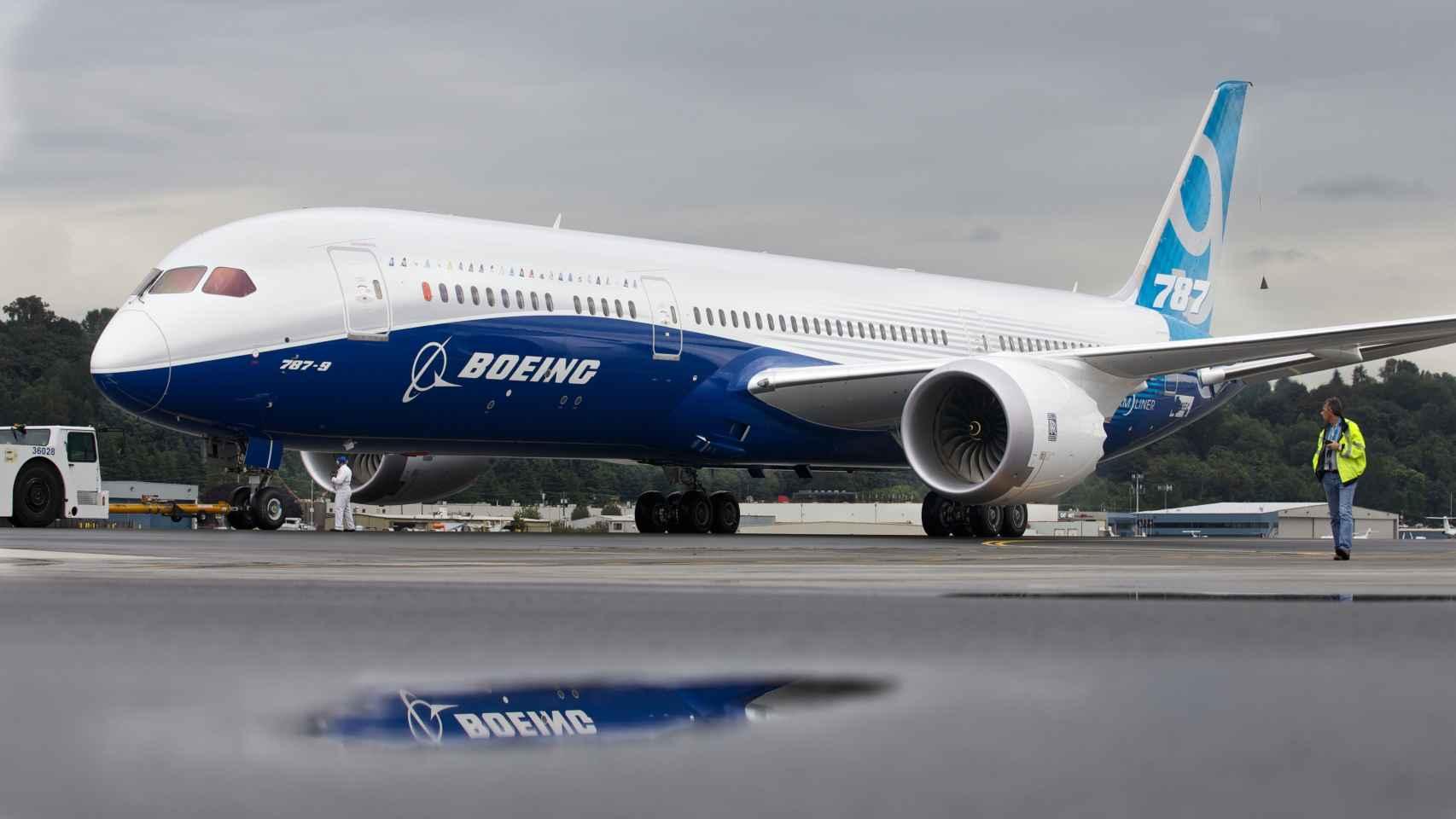 Un 787 de Boeing, uno de los modelos estrella de la compañía estadounidense.