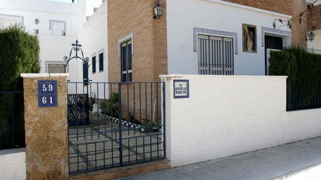 La fachada de la casa de Rocío Jurado.