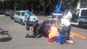 acciente motorista policia coche paseo filipinos valladolid 1