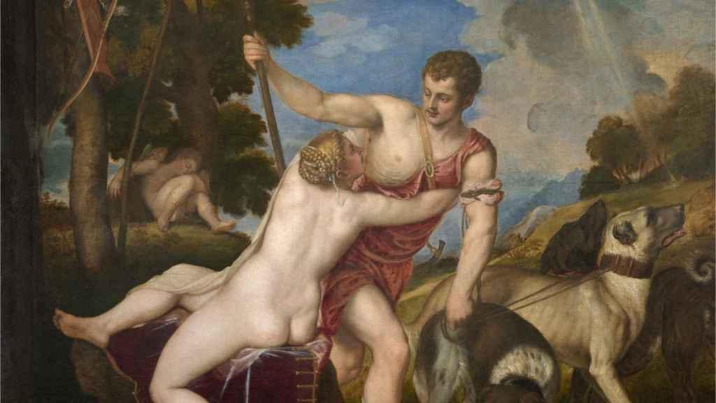 'Venus y Adonis', pintado por Tiziano en 1554.