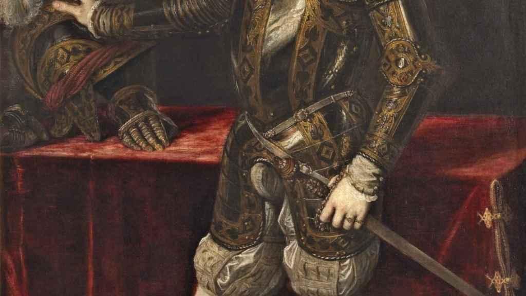 Felipe II pintado por Tiziano.
