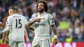Marcelo celebra tras marcar el segundo gol ante el Viktoria Pilsen