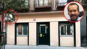 La anterior casa de Echenique, en el distrito Salamanca, que fue multada por colocar cámaras ilegalmente.
