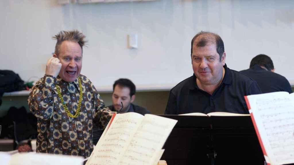 Sellars, junto a Ivor Bolton, director musical de Only the sound remains.