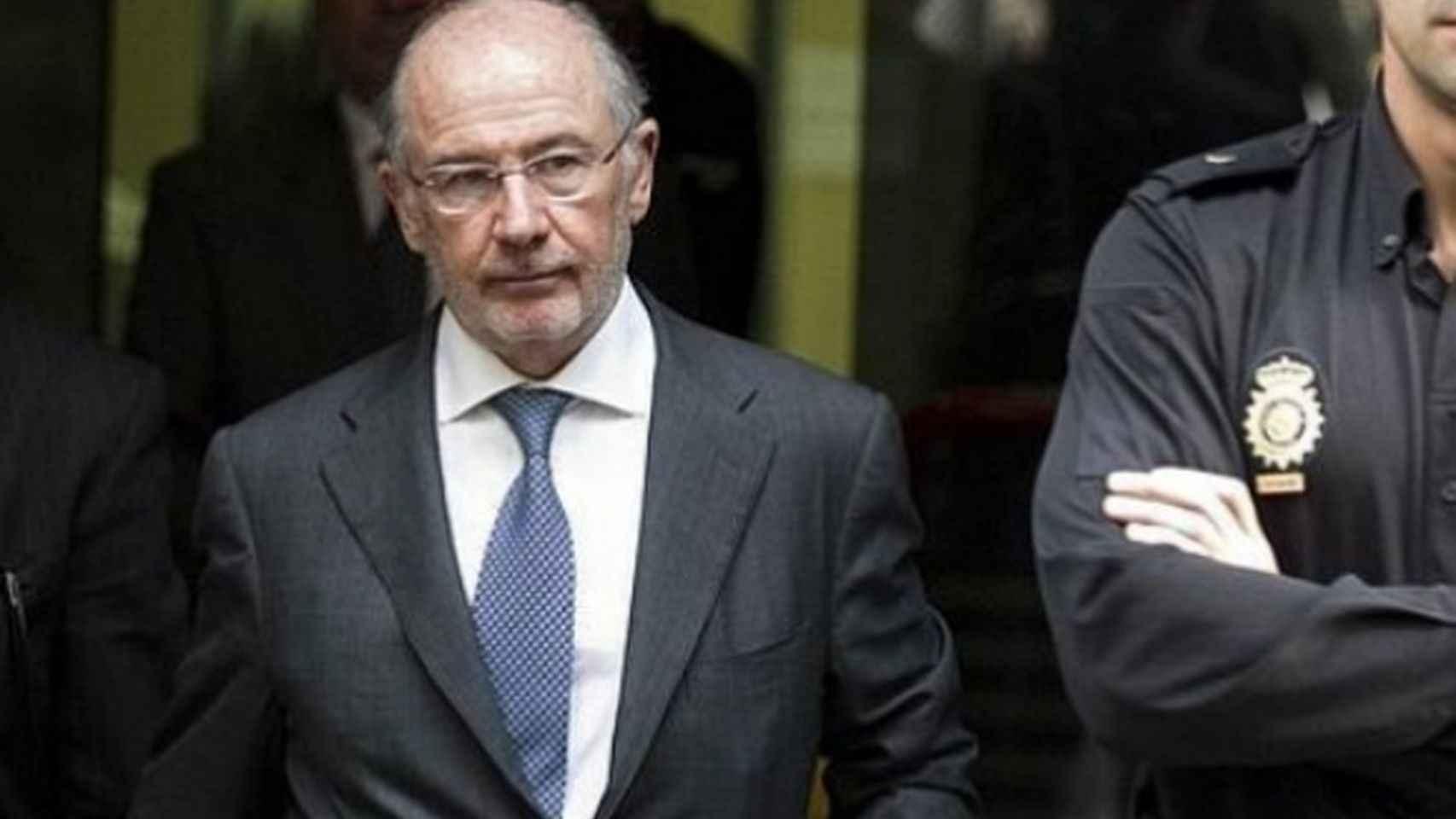 Rodrigo Rato tras una de sus declaraciones en la Audiencia Nacional.