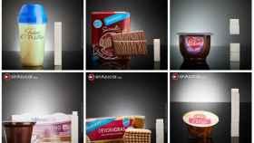 Algunos de los productos de dieta con azúcar.