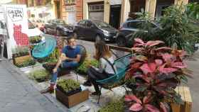 Jardin urbano efícmero
