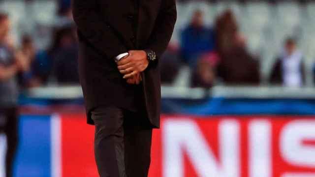 Thierry Henry, durante un partido como entrenador en la Champions League
