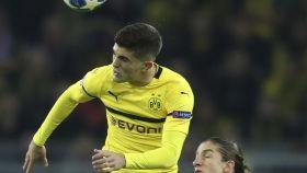 Pulisic en un duelo de Champions League