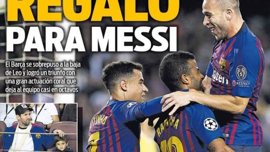 Portada del diario SPORT. (25/10/2018)