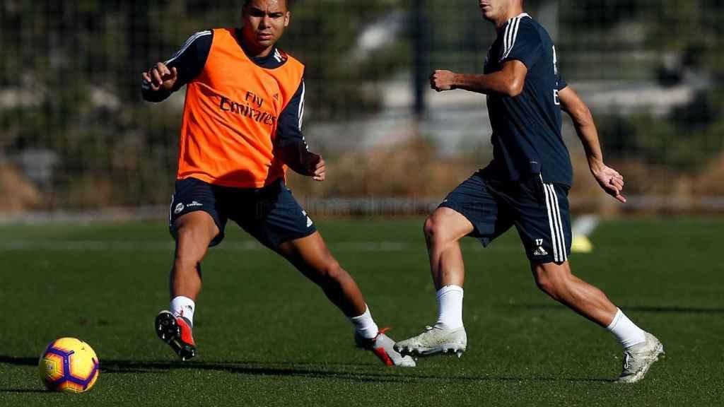 Casemiro y Lucas Vázquez se entrenan