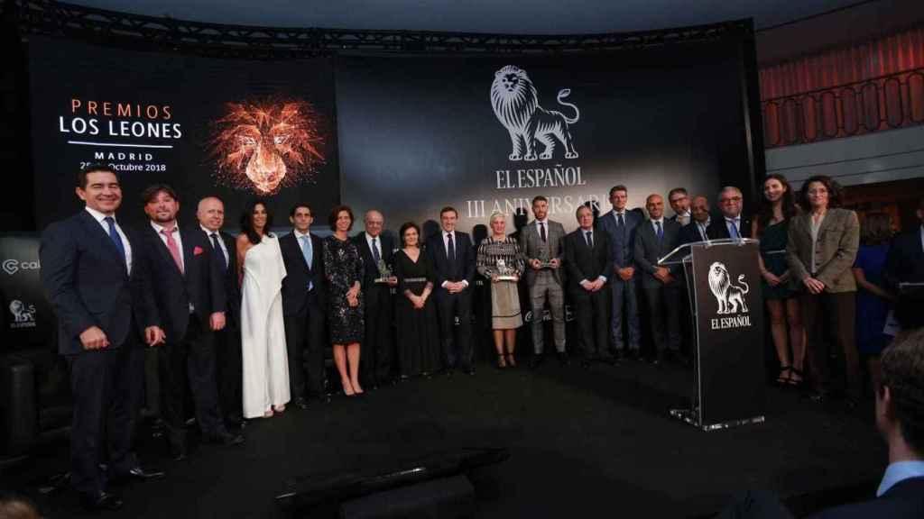 Políticos, empresarios y deportistas en los premios Los Leones de EL ESPAÑOL