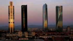 Las cuatro torres del Paseo de la Castellana, en Madrid.