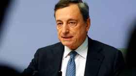 El presidente del BCE, Mario Draghi, durante la rueda de prensa
