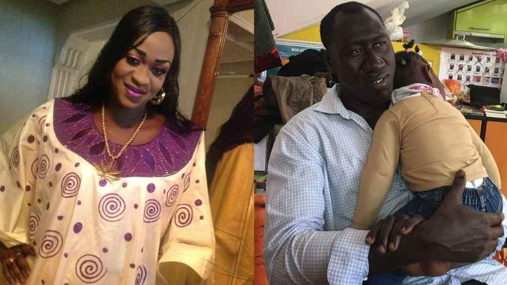 Maguette Mbeugou y su marido, el hombre que le asesinó.