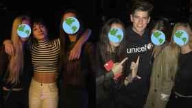Aitana y Miguel Bernardeau en una discoteca de Madrid.