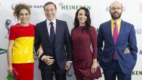 Cósima Ramírez, Pedro J. Ramírez, Cruz Sánchez de Lara y Tristán Ramírez.