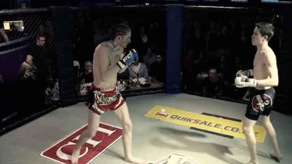 Louis Nicholson, en una de sus peleas. Foto: UWC MMA