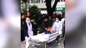 Imagen de uno de los heridos en la guardería.