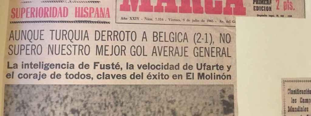 Portada del diario Marca tras el éxito de España.