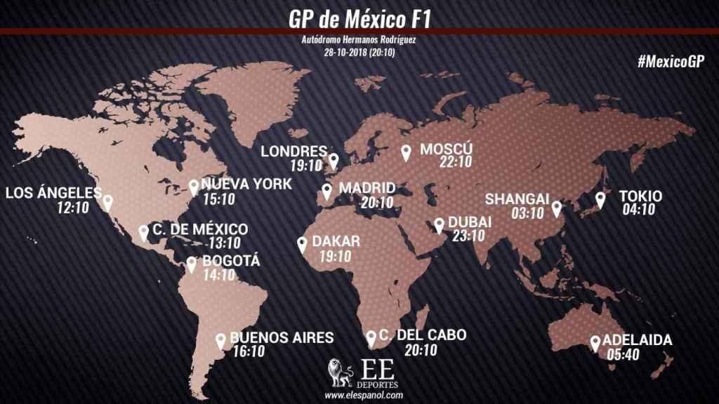 Horario del Gran Premio de México de Fórmula 1