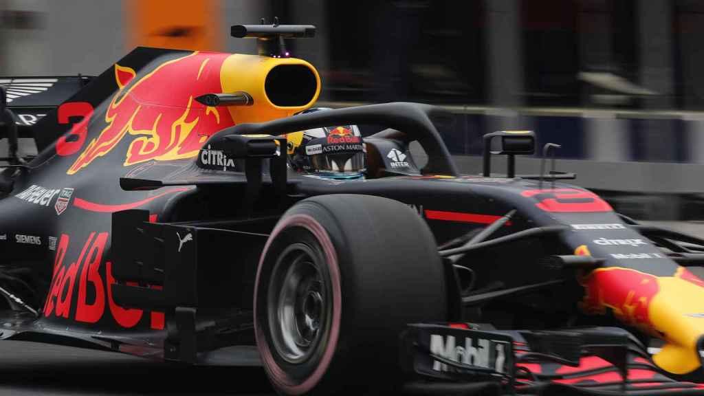 El coche de Ricciardo en el Gran Premio de México de Formula 1