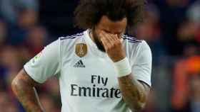 Marcelo se lesiona durante El Clásico