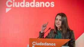 Inés Arrimadas, da un mitin en Jerez de la frontera.