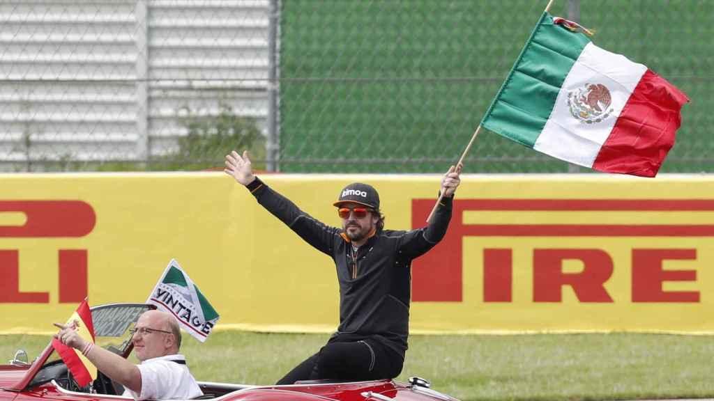 Alonso en el Gran Premio de México